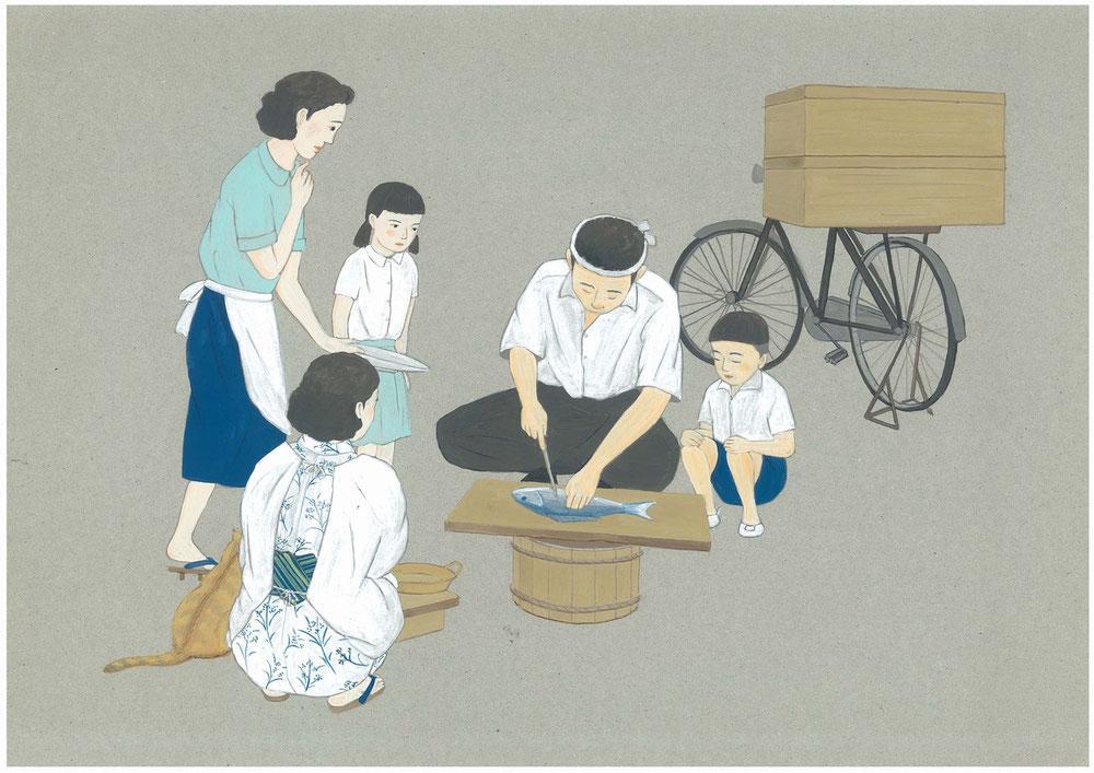 昭和メモリーズ、町の魚売り.jpg