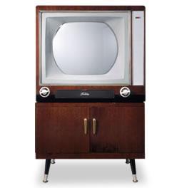 日本初のカラーテレビ受像機(出典:東芝未来科学館).jpg