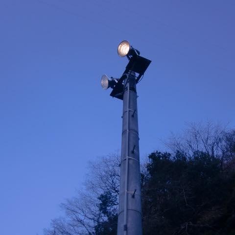 熊野川ダム河川総合交付金照明設備更新工事