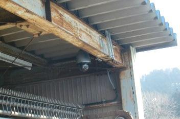 和田川浄水場取水口監視カメラ設置工事 1