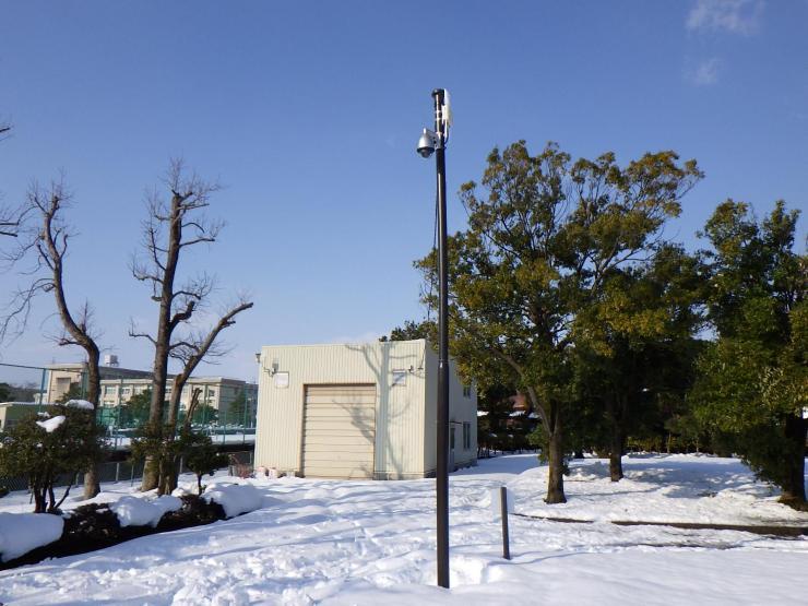 富山県岩瀬スポーツ公園監視カメラ設置その2工事 1