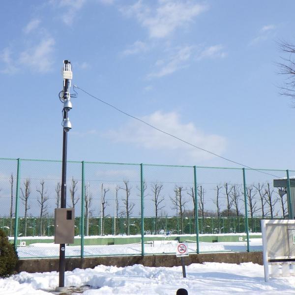 富山県岩瀬スポーツ公園監視カメラ設置その2工事