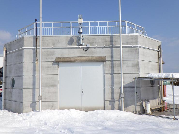富山県岩瀬スポーツ公園監視カメラ設置その2工事 2