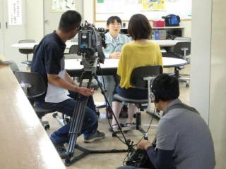 北日本放送局の取材を受けました。